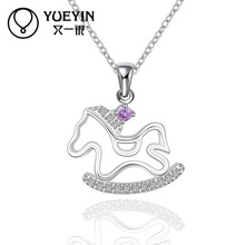 Exquisite Lovely Zircon Horse Pendant kids Jewellery Turkey