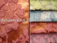 Polyester bright-coloured floral jacquard fabric