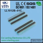 Pin Header R/A 2.0mm Pitch Single Row Board Spaces 2mm pin header