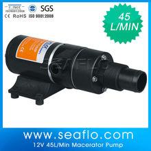 12V 45.0LPM sewage centrifugal submersible pump for liquid transfer