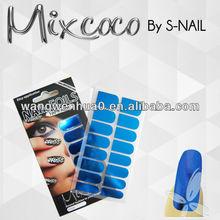 2014 hot sale metallic nail sticker nail foil adhesive wholesale