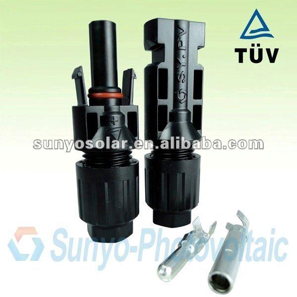 Nouveaux produits 2013,4.0 broches,, approuvé par tuv, ip68, femelle,& mâle. paire., 4/6/10mm2 câble solaire/fil, photovoltaïque mc4 connecteur