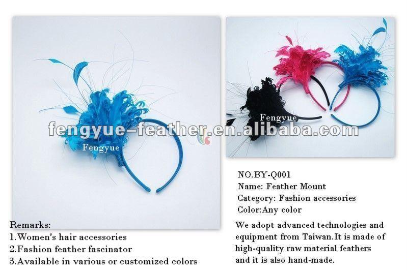 by-- q001-- chilrden fascinator ريشة/ ريشة غطاء الرأس، ريشة عقال، وسادة الريش
