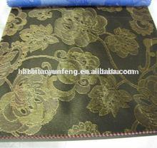 green polyester polypropylene jacquard ticking fabric