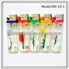 Plastic Flint Flower Lighter+head color Cigarette Smoking Lighter Shaodong Maker