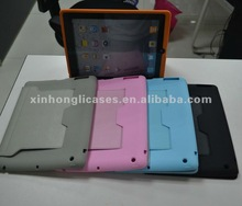 Leather cover with silicon metarils for IPad
