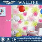 WO2-312 / plain style durable vinyl wallpaper for project decoration children wallpaper