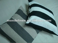 stripes printed 100% pure linen cushion cover for luxury decoration