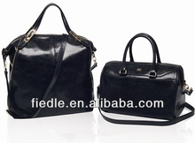 China Manufacturer Fashion oily leather lady handbag for christmas sale