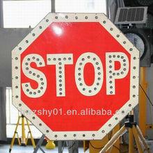 2014 latest solar traffic warning stop sign light