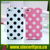 POLKA DOTS SKIN SOFT GEL CASE COVER FOR iPhone 4 4G 4S