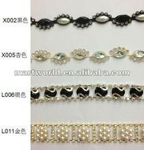 decorative rhinestone trim, shoe jewelry chains(A3)