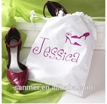 2014 new drawstring shoe bag / cotton drawstring shoe bag
