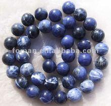 10mm round sodalite blue natural stone