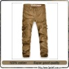 mens hot sale fashion 100% cotton casual cargo pants wholesale (CN24)