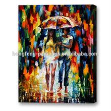 Wholesale impressionist modern people knife oil paintings