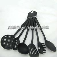 High quality hot selling 6pcs nylon plastic cooking kitchen utensils