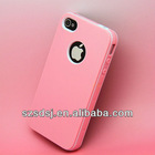 Christmas Promotion Colorful TPU PC Hard Bubble Pack Case for iphone 4