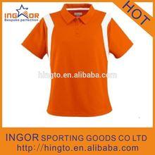 2014 summer plain sport orange polo t shirt for men