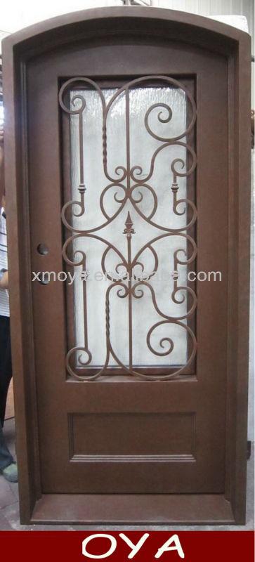 Ceja forjado puerta de hierro