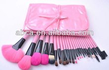 Travelling pink wooden makeup brush set cosmetic Brush Set Synthetic Nylon Goat Pony Hair Factory Outlet