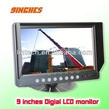 New Design Wide Voltage input 9 inches digital mini camera lcd cctv