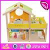new children wooden doll house quality kids wooden doll house popular baby wooden doll house