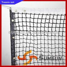 Stn-120 redes para cancha de tenis/neto del torneo/equipos de tenis/3mm trenzado de poliéster