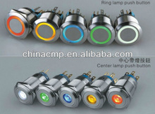 CMP 22mm stainless steel LED illuminated 12V Car Auto push button