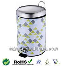 3L5L6L12L20L30L Color Coded Bedroom Table Pedal Trash Bin