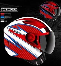 NEW open face dual visor motorcycle helmet unique DOT/ECE motorcycle helmets new style open face helmet 2014