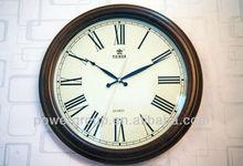 Retro classcial Quartz wall clock sweep movement wood clock