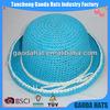 Blue Childrens Crochet Straw Summer Hats/Caps