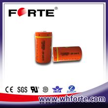19ah er34615 3.6v d size lithium battery used in AMR/ military instrument/meter