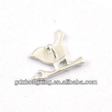 Brass metal bird charms necklace jewelry