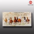 ocho caballos corriendo la decoración del hogar caballo de madera pintura al óleo