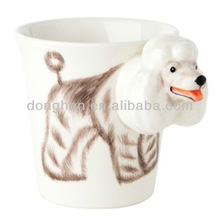 ceramic personalized embossing dog mug for coffee or milk