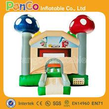 GB523 0.55mm pvc tarpaulin cartoon and mushroom inflatable bouncer