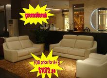 Comfortable small cheap leather sofa HD-166