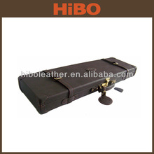 Gun case with imitation leather exterior