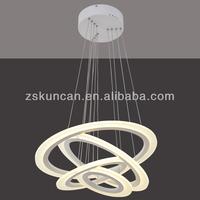 2015 kuncan lighting factory hot sell Grogshop Modern style chandeliers