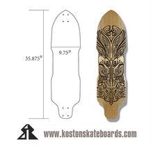 Pro quality Downhill/freerider style longboard skateboard deck LD294
