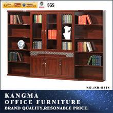 2014 new design luxury wooden book shelf, library bookshelf