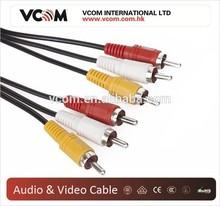 VCOM High Quality 3 RCA TO 3 RCA Cable