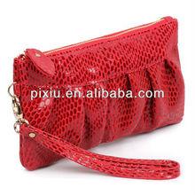 Fashion Korean genuine leather purse Ladies Zipper wrist wallet