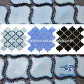 """48 * 48 mm ( 2 """" x 2 """" ) branco e preto de porcelana mosaico de azulejos para cozinha"""