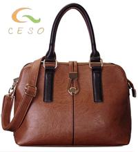 Men buy leather shoulder bag for women OEM genuine leather bag