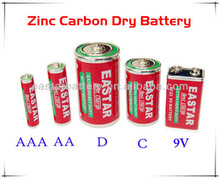 Manufacturing Long Service Life D/C/AA/AAA/9V Zinc Carbon Battery