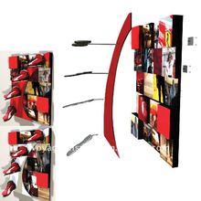 Wooden wall display rack OEM for Puma shoe