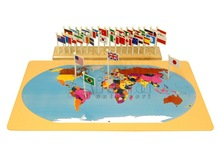 Attrezzature Montessori- bandiere del mondo